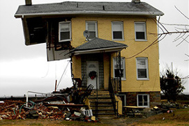 Whereas this traditionally constructed home was devasted by Hurricane Sandy