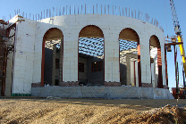 Arched Openings in a Radius Wall with Fox Blocks ICF