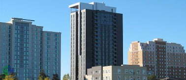 22-story student dormitory was built in Waterloo in Ontario, Canada with Fox Blocks ICF and is the tallest ICF building on record
